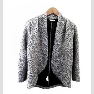 Three Dots | Gray Quilted Textured Jacket